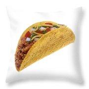 Hard Shell Taco Throw Pillow