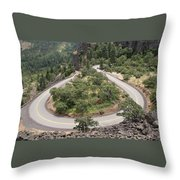 Hard Turn Throw Pillow