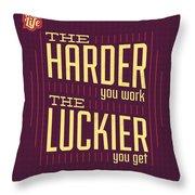 Hard Work Throw Pillow