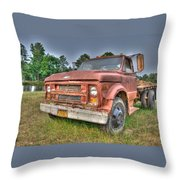 Hard Working Farm Truck Throw Pillow