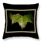 Hard Working Leaf Throw Pillow