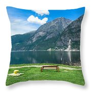 Hardangerfjord Throw Pillow