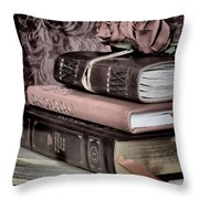 Hardcover Books Throw Pillow