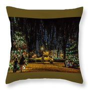 Harding Christmas Postcard Throw Pillow