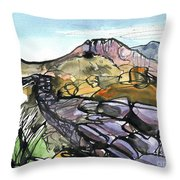 Hardknott Roman Fort Throw Pillow