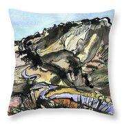 Hardknott Summit Road Throw Pillow