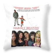 Hardly Beloved Poster Throw Pillow
