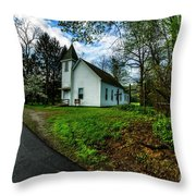 Hardtop And Church Throw Pillow