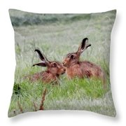 Hare 2 Day Throw Pillow
