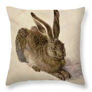 Hare Throw Pillow by Albrecht Durer