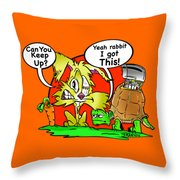 Hare And Tore Throw Pillow