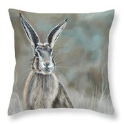Hare At Dawn Throw Pillow