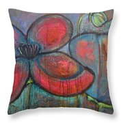 Hare Hare Poppies Throw Pillow