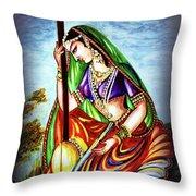 Hare Krishna - Ecstatic Chanting  Throw Pillow
