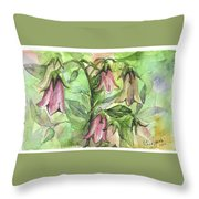 Harebell Throw Pillow
