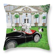 Hares And Hound Throw Pillow