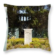 Harkness Garden Statue 1 Throw Pillow