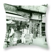 Harlem Newspaper Stand 1939 Throw Pillow