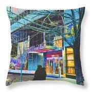 Harlem Street Scene  Throw Pillow