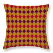 Harlequin Gold Purple Coral Throw Pillow