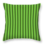 Harlequin Green Striped Pattern Design Throw Pillow