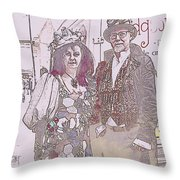Harlequin Love Throw Pillow