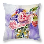 Harlequin Or Bright Side Of Life Throw Pillow