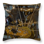Harley 1918 Cycle Engine Throw Pillow