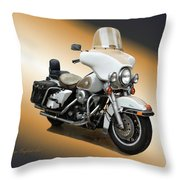 Harley Classic Gold Throw Pillow