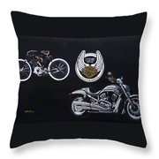 Harley Davidson 105th Anniversary Throw Pillow