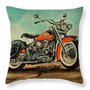 Harley Davidson 1956 Flh Throw Pillow