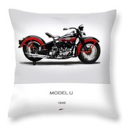 Harley Davidson Model U Throw Pillow