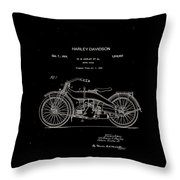 Harley Davidson Motor Cycle Patent 1924 Throw Pillow