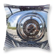Harley Davidson Motorcycles Art Throw Pillow