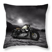 Harley Davidson Sportster Forty Eight 2013 Mountains Throw Pillow