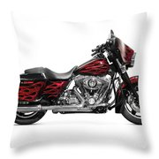 Harley-davidson Street Glide Motorcycle Throw Pillow