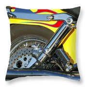 Harley-davidson Twin Cam 88 Rear Wheel Throw Pillow