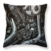 Harley Engine Throw Pillow