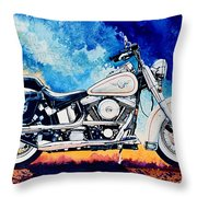 Harley Hog II Throw Pillow