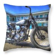 Harley Hotel Throw Pillow