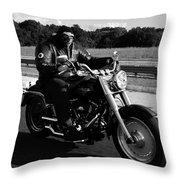 Harley Man Throw Pillow