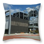 Harley Museum  Throw Pillow