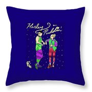 Harley N Puddin Throw Pillow