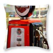 Harley Petrol Throw Pillow