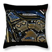 Harley Power Plant Throw Pillow