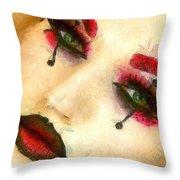 Harley Quinn Face - Da Throw Pillow