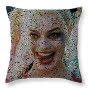 Harley Quinn Quotes Mosaic Throw Pillow