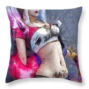 Harley Quinn Waiting For You - Da Throw Pillow