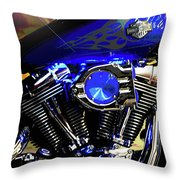 Harleys Twins Throw Pillow