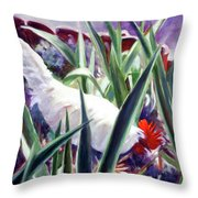 Harmony Rooster Throw Pillow